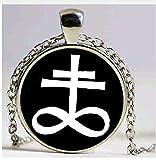 Art en verre Mode Bijoux, Léviathan, pendentif croix, pendentif d'autel Rituel, satanique Collier Pendentif Occulte