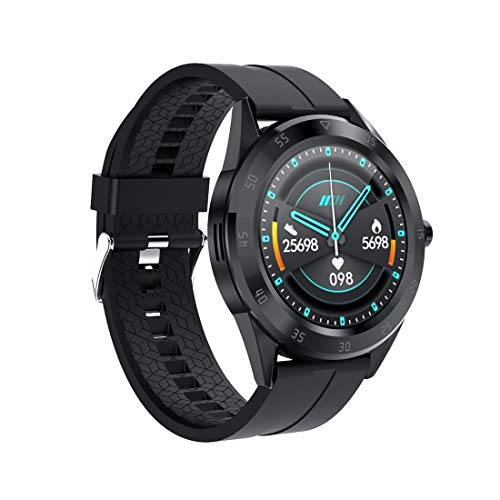 RUNNA Y10 1.54inch Color Screen Smart Watch IP68 Waterproof,Support Heart Rate Monitoring/Blood Pressure Monitoring/Blood Oxygen Monitoring/Sleep Monitoring (Color : Black)