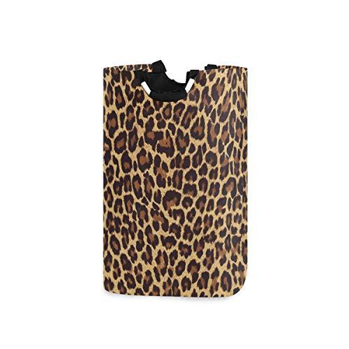 N/A Wäschekorb, cooler Leopardenmuster, faltbarer Aufbewahrungsbehälter mit Griffen für Kleidung, Wäsche, Schlafzimmer, Organizer, Spielzeug-Kollektion