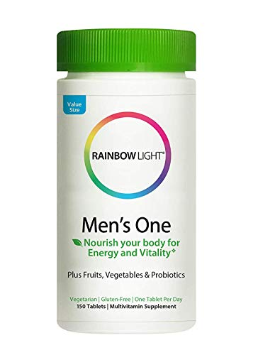 Rainbow Light® Men's One Multivitamin, Supports Immune Health*, Clinically Proven Absorption of 6 Key Nutrients, Once-Daily High Potency Multivitamin, Non-GMO Vegetarian & Gluten Free, 150 Tablet