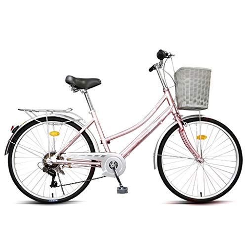 Bicicleta Plegable Para Adultos, 26/24 Pulgadas Trabajo Ligero Para Mujer Adulto Ultra Ligero Variable Velocidad Portátil Pequeño Estudiante Pequeño Estudiante Masculino Bicicleta Plegable Portador Bi