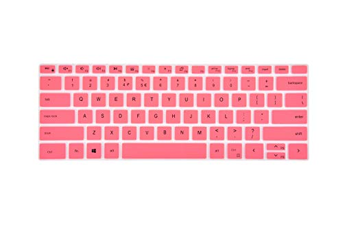 LEZE - Ultra Thin Keyboard Cover Compatible with Dell XPS 15 9500, XPS 17 9700 Touch-Screen Laptop - Pink