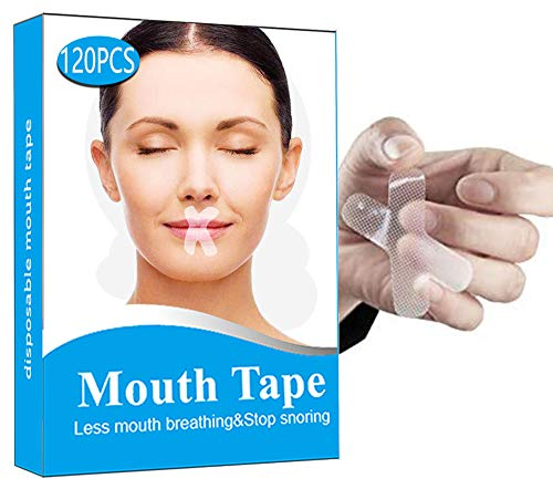 120 Pcs Sleep Strips,Anti Snoring Devices Advanced Gentle Mouth Tape for Sleeping Stop Snoring Mouth Tape for Better Nose Breathing Sleep Aids Mouth Sleep Strips for Snoring Reduction
