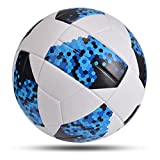 Nueva balones de fútbol Tamaño 4 Tamaño 5 Fútbol PU Cuero de Cuero al Aire Libre Pelota (Color : Blue White Size 5)