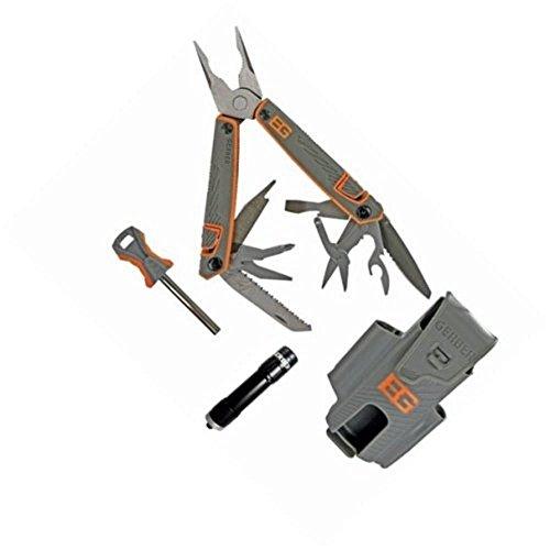 Gerber Bear Grylls Survival für Hosentasche 12tools schwarz Zange Seitenschneider Multifunktionswerkzeug Multi-Werkzeug, Schwarz, 10,2cm (316g)