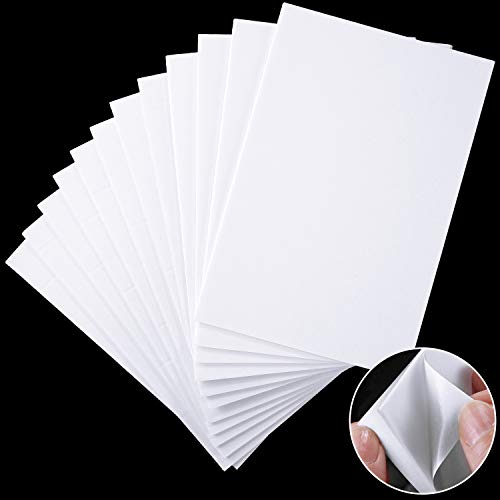 24 Sheets Foam Sheet Double Sided Sticky Dual-Adhesive 3D Foam Adhesive Mount Sheet for Shaker Card Scrapbooking