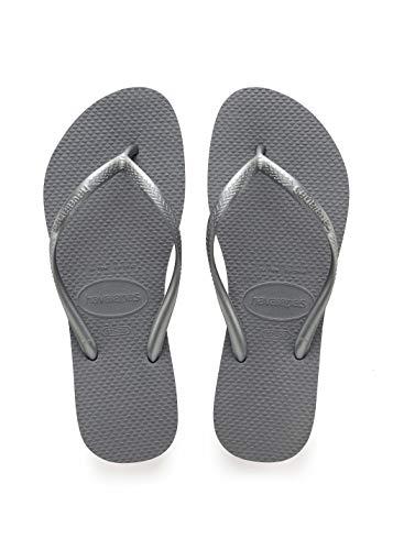 Havaianas Damen Slim\' Zehentrenner, Grau (Steel Grey), 35/36 EU