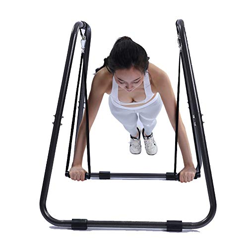 Dip-Station Ausrüstung Indoor Parallel Bars Multifunktions Siamese Parallel Bars Training Fitness Ausrüstung Home Parallel Bars Multifunktions Fitness Dip Barren ( Color : Black , Size : 91x92cm )