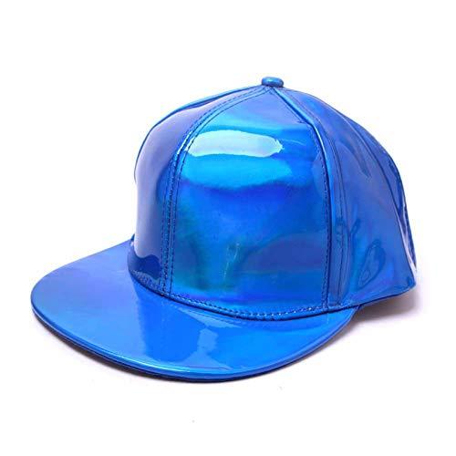 gorra Gorras Beisbol Nueva gorra de béisbol de moda para hombre, sombreros de hip-hop de lujo para mujer, sombreros de cuero con cambio de color arcoíris, gorras de color fluorescente,royal blue