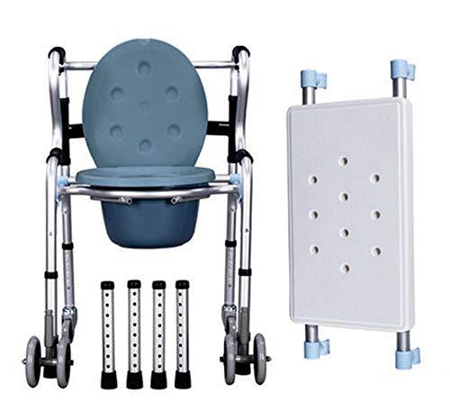 QZX Chair Toilettenstuhl Fahrbar auf Rollen, Duschhocker Duschstuhl,Toilettenstuhlfahrbar, Toilettenstuhl TRS, Toilettenstuhl aus Kunststoff