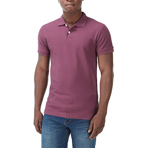 Charles Wilson Camiseta Polo Clásica Lisa (Medium, Burgundy)