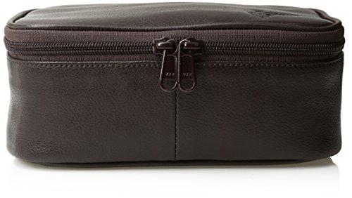 Dopp Men's Travel Express Mini Top Zip Travek Kit-Leather, Brown, One Size Buxton Mini Mini Bag