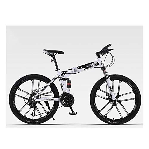 KXDLR Mountainbike, City Bike, 27 Speed Change, Schijfremmen, Dubbele Schokdemping Off-Road Racing, Stad 21 Inch Frame Bike