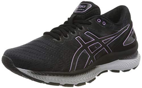 Asics Gel-Nimbus 22, Zapatos para Correr Mujer, Black/Lilac Tech, 40.5 EU