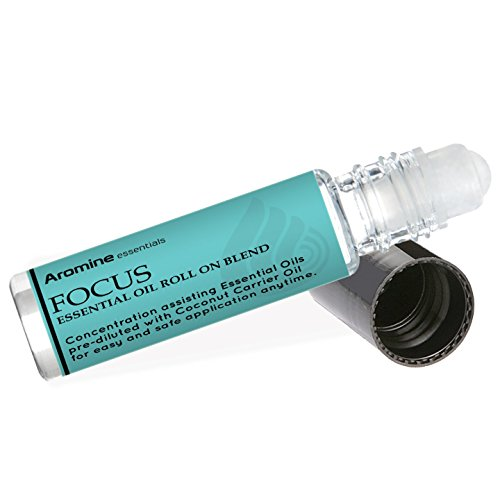 Focus Essential Oil Roll On, Pre-Diluted 10ml (1/3 fl oz)