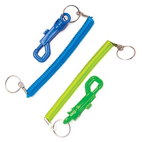 Baker Ross Spiral-Gürtelclips aus Kunststoff mit Schlüsselring (6 Stück) – bunter Gürtelclip mit Schlüsselanhänger