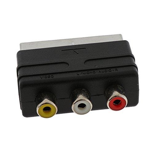 Audio Video Konverter Wandler Digital zu Analog, Scart Adapter Audiowandler Funktion für Laptop Wii Xbox PS4 TV