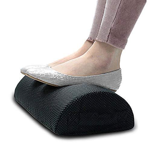 HYCy Comfort Reposapiés Cojín Almohada Espuma viscoelástica Debajo del Escritorio de Oficina Medio Cilindro Home Foot Relax Alivio del Dolor Cojín Relajante