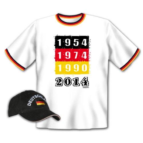 Weltmeister T-Shirt + Cap für Fußball-Fans