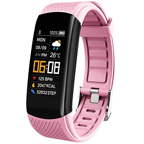 QIYE Smart Watch, Pulsera Inteligente para medir la presión Arterial, rastreador con el termómetro de oxígeno en la Sangre Pedómetro de calorías Contador de calorías IP67 Impermeable, para Mujeres