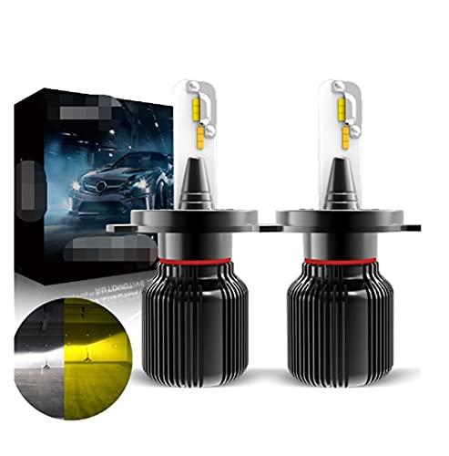 ZIHAN Feil Store Dual Color H7 LED Bombilla H1 H4 H8 H8 9005 9006 CSP Coche Niebla Luz CANBUS 6500K Blanco 3150K Oro Auto Día de conducción Lámpara (Socket Type : H8 H11 H16JP)