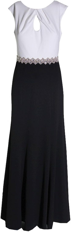 Alex Evenings Womens colorblock Embellished Evening Dress