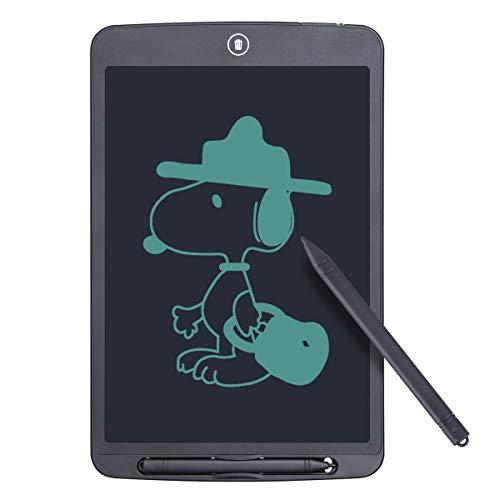 Funkprofi 12 Zoll LCD Schreibtafel, Digitale Grafiktabletts Schreibplatte Papierlos Elektronisches Writing Tablet mit Anti-Clearance Funktion + Schutztasche Geschenk für Kinder Malen Büro