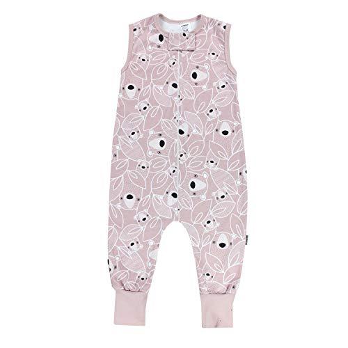 TupTam Unisex Babyschlafsack mit Beinen Unwattiert, Farbe: Bärchen Rosa, Größe: 92-98