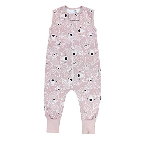 TupTam Unisex Babyschlafsack mit Beinen Unwattiert, Farbe: Bärchen Rosa, Größe: 80-86