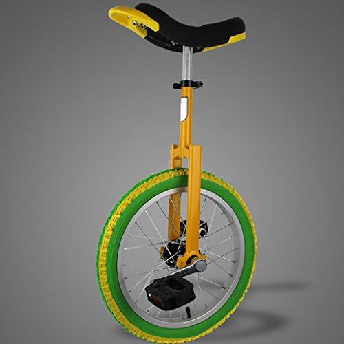 Monociclos Carretilla, monociclo deportivo para adultos de 16 pulgadas / 18 pulgadas / 20 pulgadas / 24 pulgadas para niños, acrobacias, bicicleta de equilibrio para una sola aptitud (3 opciones de co