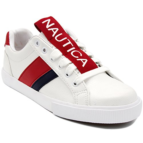 Nautica Steam Women Lace - Up Fashion Sneaker Casual Shoes -Steam Tape-Red Tape-8