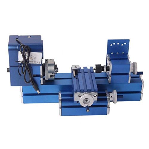commercial Mini Metal Lathe CNC DIY Tool Desktop Wood Lathe Woodworking for Hobbies, Science, Education … benchtop metal lathes