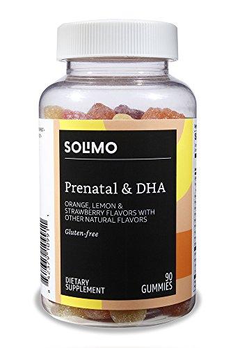 Amazon Brand - Solimo Prenatal Vitamins & DHA - Pregnancy Wellness - 90 Gummies (45-Day Supply)