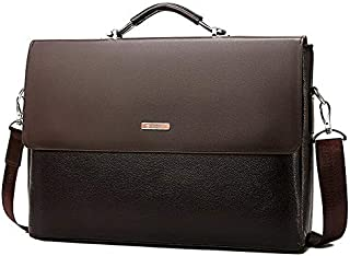 Men's Luxury Leather Shoulder Bag Briefcase Office Work Business