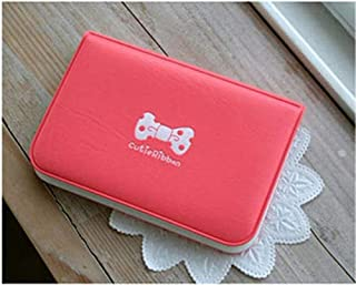 JYtop New Cute Ribbon Bow Credit ID Business Card Holder Case Purse Mini Card Book