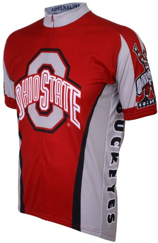 NCAA Ohio State Cycling Jersey,X-Large(red/grey