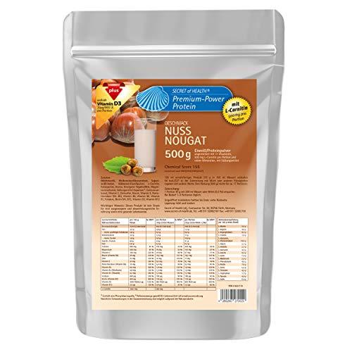 4-KOMPONENTEN Eiweiß mit 80% Proteinanteil   Chemical Score 155   L-Carnitin & Vitaminen & Mineralstoffen   Mehrkomponenten Protein Eiweißpulver Proteinpulver Nuß-Nougat 500 g