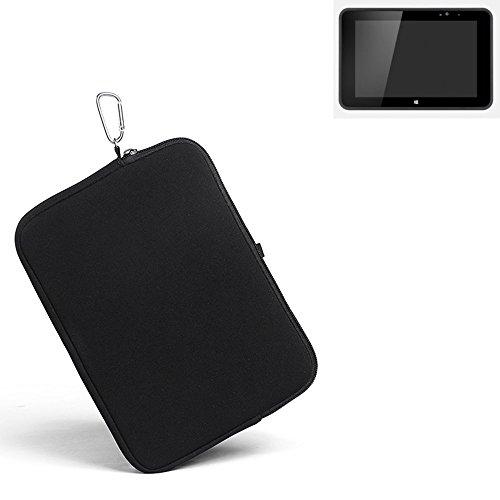 K-S-Trade® Für Fujitsu Stylistic V535 Industrial Neopren Hülle Schutzhülle Neoprenhülle Tablethülle Tabletcase Tablet Schutz Gürtel Tasche Case Holster Sleeve Business Schwarz Für Fujitsu