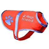 4LegsFriend Dog Safety Reflective Vest - High Visibility for Outdoor Activity Day and Night, Keep Your Dog Visible - Safe From Cars & Hunting Accidents | Blaze Orange (Large)