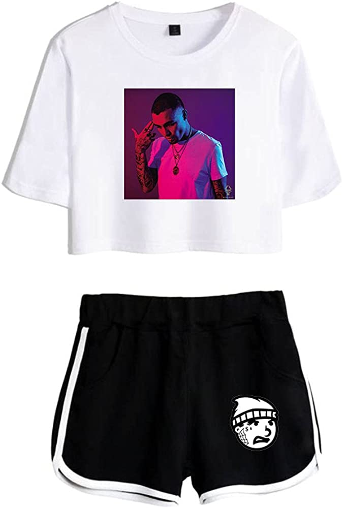 Tydres Gera MX 2 Piece Sets Hip Hop Short Sleeve Suit Womens Girl Set Casual Accessories Fashion Suit (WB-YM00721,S)