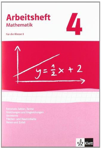 Rationale Zahlen, Terme, Gleichungen/Ungleichungen, Flächen-/Rauminhalt. Ausgabe ab 2009: Arbeitsheft mit Lösungsheft Klasse 8 (Arbeitsheft Mathematik)