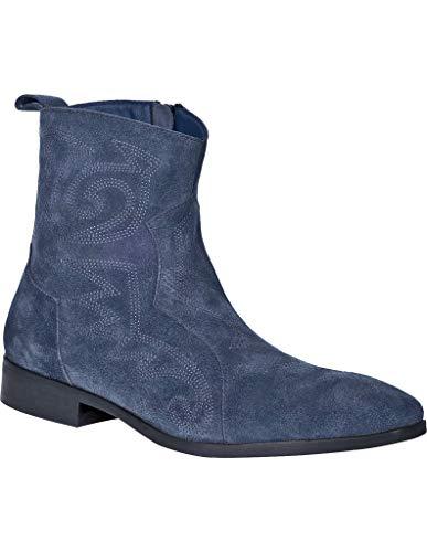 Dingo Western Boots Mens Brooks Leather Zip Round Toe 13 D Denim DI211