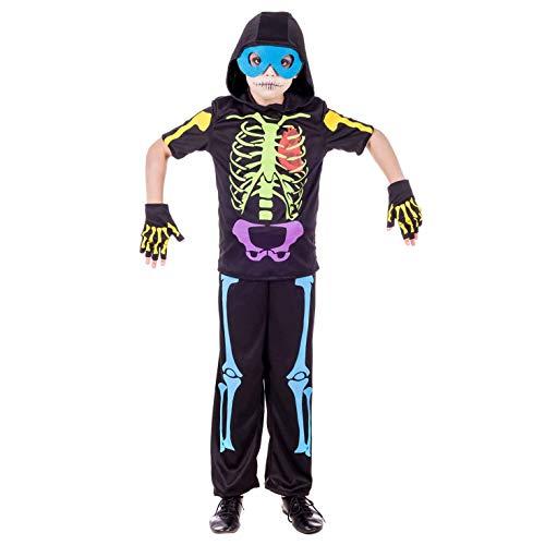 Fun Shack Negro Esqueleto De Neón Disfraz para Niños y Niñas - XL ...