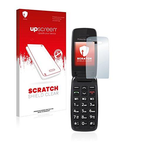 upscreen Schutzfolie kompatibel mit Doro Primo 401 – Kristallklar, Kratzschutz, Anti-Fingerprint