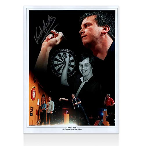 A1SportingMemorabilia.co.uk Keith Deller Signed Photo - 1983 Embassy PDC Winner Montage | Genuine Hand Signed With Certificate | Authentic Autographs | Great Gift