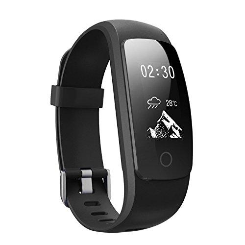 Mpow Intelligentes Aktivitätsarmband mit Herzfrequenzmesser, Schrittzähler, 14 Trainingsmodi, Herzfrequenz-Monitor, Fitness-Armband, Gesundheit, für Android- und iOS-Smartphones