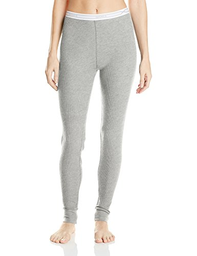 Hanes Women's X-Temp Thermal Underwear Bottoms, Heather Grey, Medium