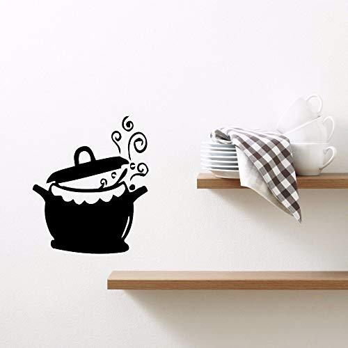 yaonuli Huisdecoratie vinyl keuken pot en wok muur stickers verwijderbare koken water ketel muur sticker keuken decoratie
