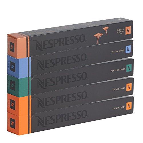 Nespresso Kapseln - Special Set Lungo Sortiment - 50 Kapseln - 4 Sorten