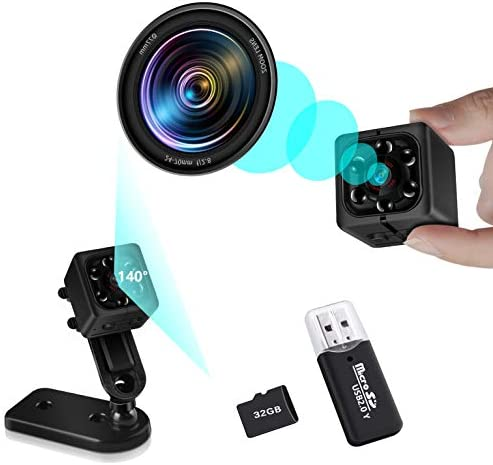 Mini Security Camera Body Cameras Full HD 1080P 32G SD Card Include Home Security Nanny Small product image